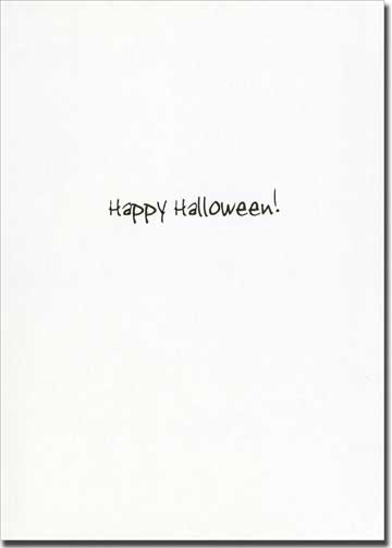 Grim (1 card/1 envelope) Allport Funny Halloween Card - FRONT: �The therapy's working� I'm feeling less grim.�  INSIDE: Happy Halloween!