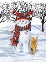 Boxed Christmas Cards With Cats Brand Name Cards Papercards Com
