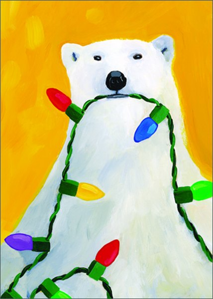 Polar Lights (1 card/1 envelope) - Holiday Card  INSIDE: Season's Greetings