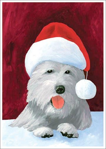 Christmas Westie (1 card/1 envelope) - Christmas Card  INSIDE: Season's Greetings!