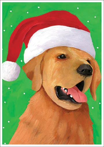 Christmas Retriever (1 card/1 envelope) - Christmas Card  INSIDE: Season's Greetings!