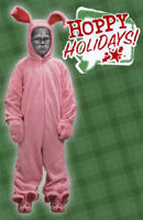 Ralphie in Bunnie Suit (1 card/1 envelope) American Greetings A Christmas Story Funny Christmas Card