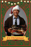 Christmas Vacation (1 card/1 envelope) American Greetings Clark Griswold Funny Christmas Card