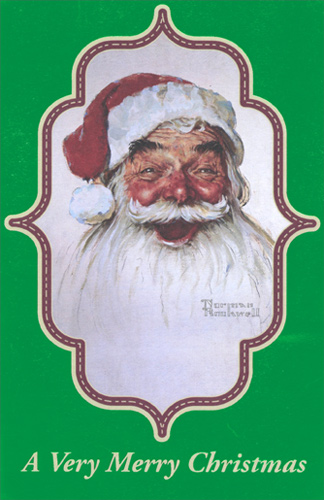 Norman rockwell santa christmas card by american greetings m4hsunfo