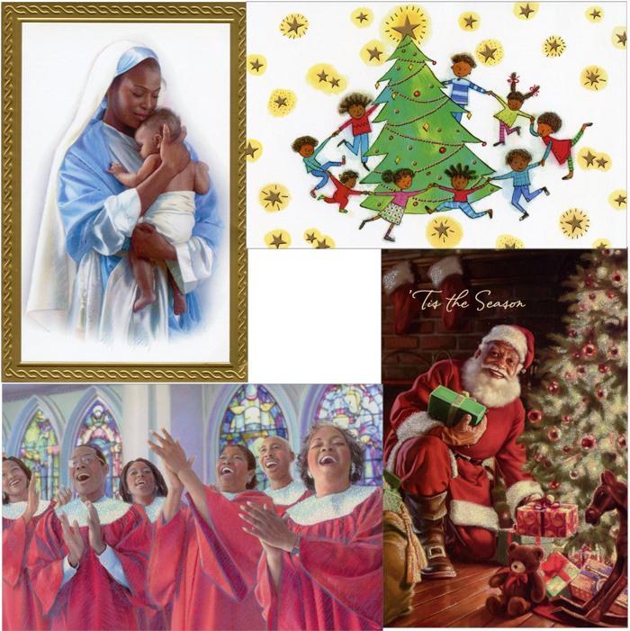 African American Elegent One World Assortment Box of 24 Christmas ...