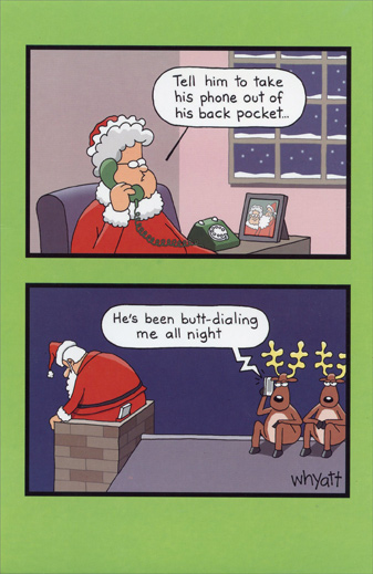 Butt dialing funny christmas card by american greetings butt dialing funny christmas card by american greetings m4hsunfo
