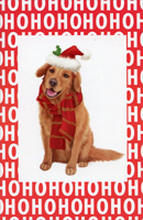 Ho Ho Ho Labrador Retreiver Box of 14 Christmas Cards