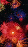 Fireworks (1 mini blank card/1 envelope) - Gift Enclosure Card