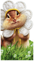 Chipmunk Wears Flower Petals (1 oversized card/1 envelope) Avanti Oversized Birthday Card