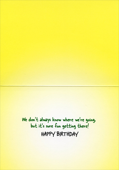 Women Canoe Adventure (1 card/1 envelope) Avanti Funny Birthday Card  INSIDE: We don't always know where we're going, but it's sure fun getting there! Happy Birthday