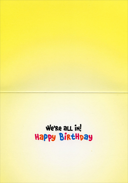 Penguin Kids (1 card/1 envelope) Avanti Funny Birthday Card  INSIDE: We're all in! Happy Birthday