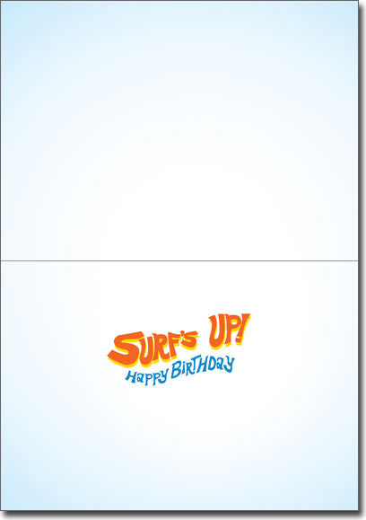 Surfer Frog (1 card/1 envelope) Avanti Funny Birthday Card  INSIDE: Surf's up! Happy Birthday