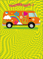 Peace Out Bus (1 card/1 envelope) - Birthday Card