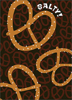Pretzel (1 card/1 envelope) - Birthday Card
