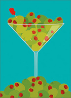 Dirty Martini (1 card/1 envelope) Avanti A*Press Birthday Card