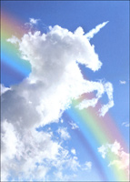 Unicorn Cloud (1 card/1 envelope) Avanti Deluxe Matte Blank Card
