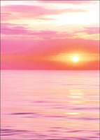 Sunset Over Water (1 card/1 envelope) Avanti Deluxe Matte Blank Card