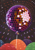 Disco Ball Balloon (1 card/1 envelope) Avanti A*Press Birthday Card