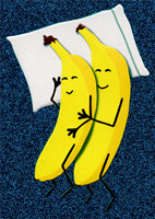 Two Bananas Snuggling (1 card/1 envelope) Avanti A*Press Anniversary Card
