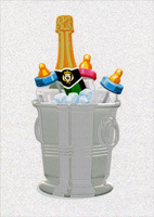 Baby Bottles/Champagne Bucket (1 card/1 envelope) Avanti A*Press Funny New Baby Card