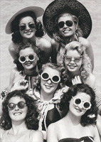 Women Wearing Sunglasses (1 card/1 envelope) Avanti America Collection Birthday Card