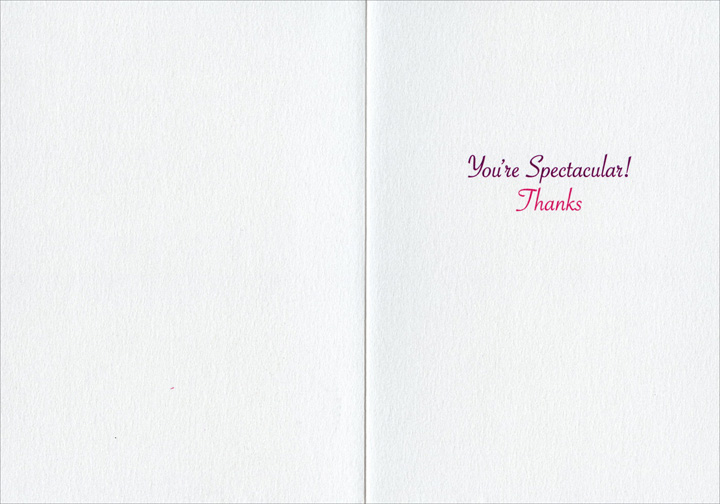 Fireworks (1 card/1 envelope) - Thank You Card - FRONT: No Text  INSIDE: You're Spectacular!  Thanks