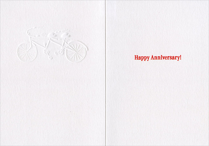 Tandem Bike (1 card/1 envelope) Avanti A*Press Anniversary Card - FRONT: Better Together  INSIDE: Happy Anniversary!