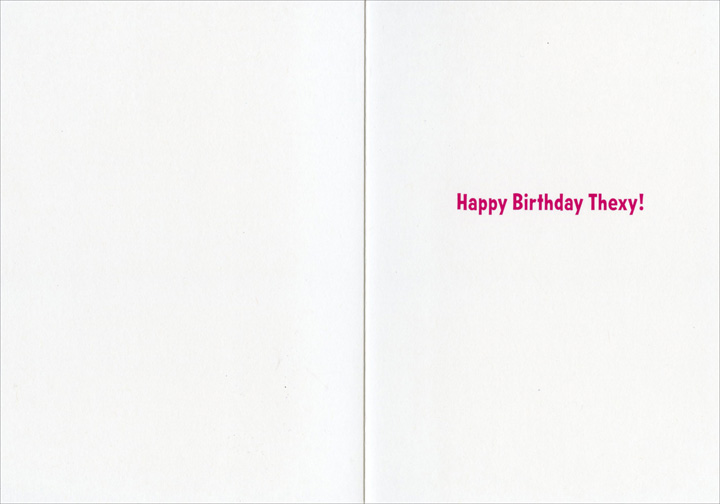 Dog Denture Glass (1 card/1 envelope) Avanti Funny Birthday Card - FRONT: No Text  INSIDE: Happy Birthday Thexy!