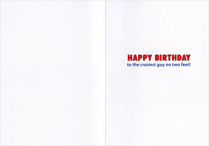 Daredevil (1 card/1 envelope) Avanti Birthday Card - FRONT: No Text  INSIDE: Happy Birthday to the craziest guy on two feet!