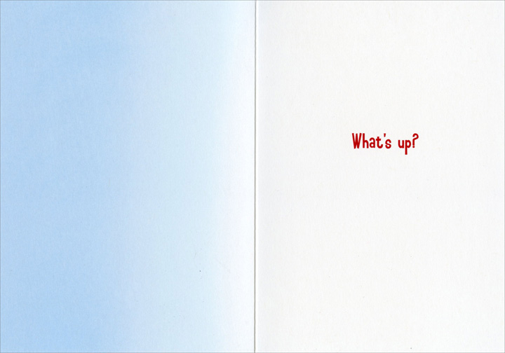 Flashing Couple (1 card/1 envelope) - Just For Fun Card - FRONT: No Text  INSIDE: What's up?