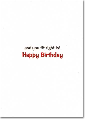 Russian Dolls (1 card/1 envelope) - Birthday Card - FRONT: You Stand Out�  INSIDE: and you fit right in! Happy Birthday