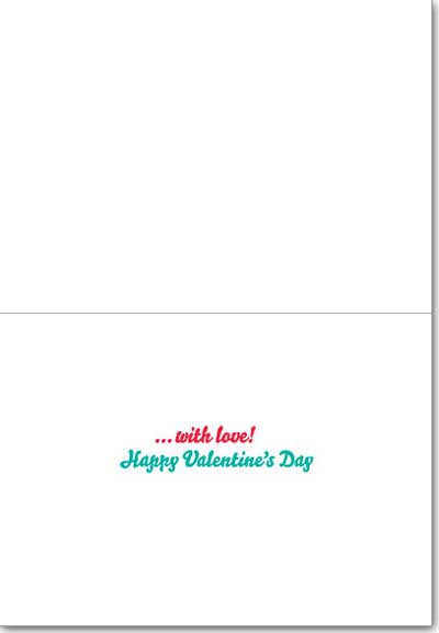 Bicycle With Heart Shaped Balloon (1 card/1 envelope) Avanti Valentine's Day Card  INSIDE: �with love! Happy Valentine's Day