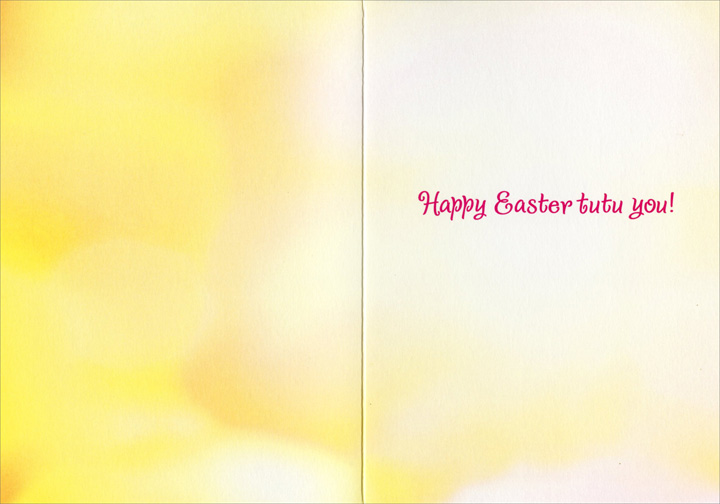 Duck Ballerina (1 card/1 envelope) Avanti Funny Easter Card  INSIDE: Happy Easter, Sunshine!