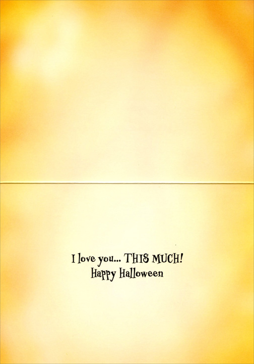 Vampire Owl Trick-Or-Treater (1 card/1 envelope) - Halloween Card  INSIDE: I love you� THIS MUCH! Happy Halloween