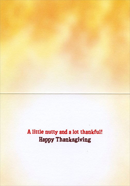 Chipmunks Deliver Pie (1 card/1 envelope) - Thanksgiving Card  INSIDE: A little nutty and a lot thankful! Happy Thanksgiving