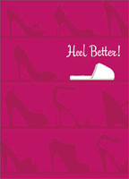 Heels & Slipper (1 card/1 envelope) - Get Well Card