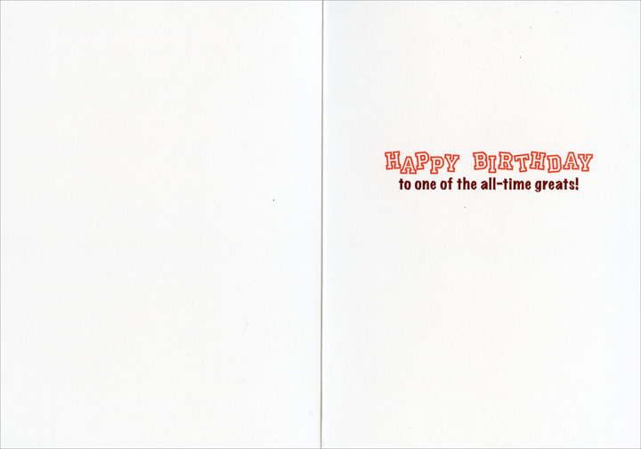 Football Dog (1 card/1 envelope) Avanti Funny Birthday Card  INSIDE: Happy Birthday to one of the all-time greats!