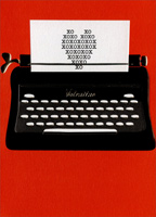 Typewriter Valentine (1 card/1 envelope) - Valentine's Day Card