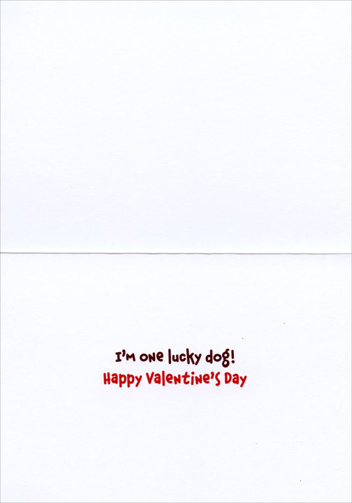 Blonde Lab Relaxing (1 card/1 envelope) Avanti Funny Dog Valentine's Day Card  INSIDE: I'm one lucky dog! Happy Valentine's Day