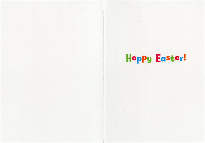 Bunny In Sneakers (1 card/1 envelope) - Easter Card  INSIDE: Hoppy Easter!
