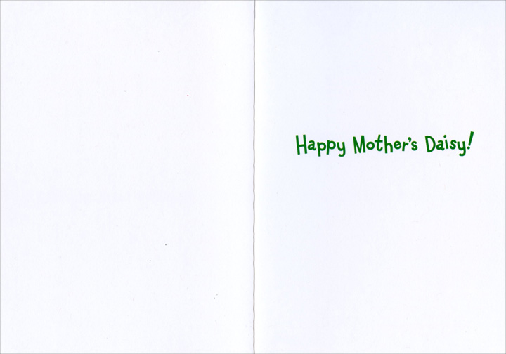 Gecko In Bucket Of Flowers (1 card/1 envelope) Avanti Funny Mother's Day Card  INSIDE: Happy Mother's Daisy!