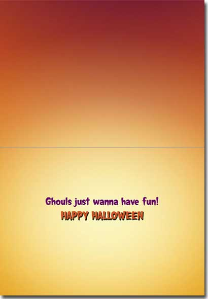 Penguin Trick Or Treat (1 card/1 envelope) Avanti Funny Halloween Card  INSIDE: Ghouls just wanna have fun! Happy Halloween