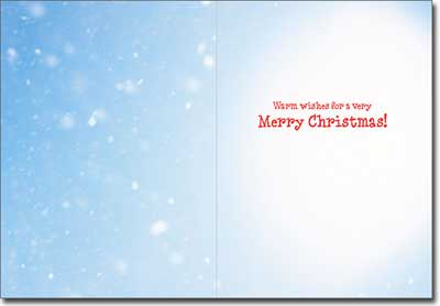 Dog On North Pole (1 card/1 envelope) - Christmas Card  INSIDE: Warm wishes for a very Merry Christmas!