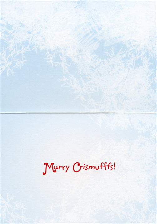 Dog Chews Santa Hat (1 card/1 envelope) - Christmas Card  INSIDE: Murry Chrismufffs!
