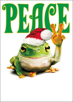Peace Frog (1 card/1 envelope) Avanti Funny Christmas Card