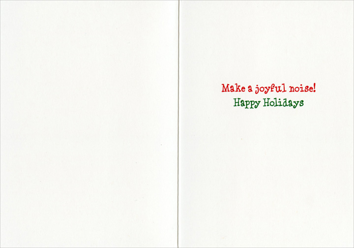 Jingle Dog (10 cards/12 envelopes) Avanti Funny Dachshund Boxed Christmas Cards - FRONT: JINGLE  INSIDE: Make a joyful noise! Happy Holidays