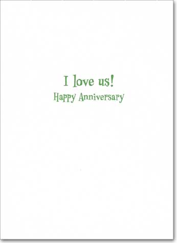 Prairie Dog Kissing (1 card/1 envelope) Avanti Anniversary Card - FRONT: No text  INSIDE: I love us!  Happy Anniversary