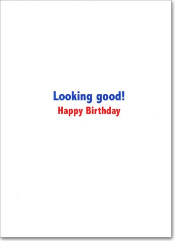 Toupee Eagle (1 card/1 envelope) Avanti Funny Birthday Card - FRONT: No text  INSIDE: Looking good!  Happy Birthday