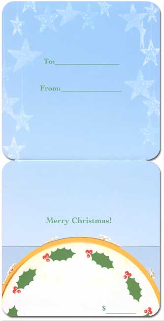 Dogs With Drum (1 square gift card holder/1 envelope) Avanti Christmas Gift Card Holder  INSIDE: Merry Christmas!