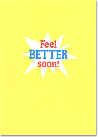 Ouch Band Aid (1 card/1 envelope) Avanti A*Press Get Well Card - FRONT: OUCH!  INSIDE: Feel better soon!